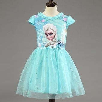 New Elsa Anna Girls Dress Cosplay Party Kid Dresses Princess Children Clothing Baby Kids Vestidos Toddler Girl Dress - intl