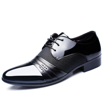 New Men's Dress Formal Oxfords Leather shoes Business Casual Shoes Dress Casual (EXPORT)