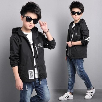 New Sportswear Caot Boy Jacket Big Children Style Windbreaker Spring for Children's Clothing Girls Kids Clothes Boys - intl