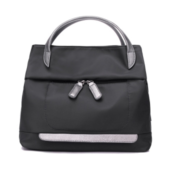 New style female bag handbag bag large capacity travel backpackwaterproof nylon Oxford Cloth Bag shoulder messenger large bag(Black)