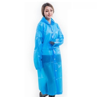 PAlight Women EVA Raincoat Poncho Portable Environmental Light Rain Coat - intl