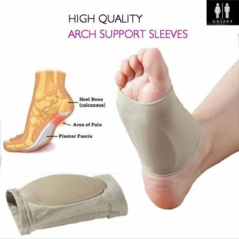 ff9bf63f7e Plantar Fasciitis Arch Support Sleeve Cushion Foot Pain Heel Insole Orthotic  - intl
