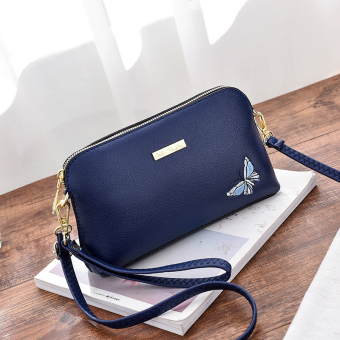 Versitile fashion female New style one-shoulder bag bags (Sapphire blue color)