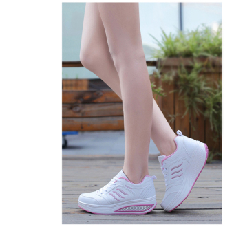 Sports New style mesh breathable rocking shoes (Leather B877 white powder)