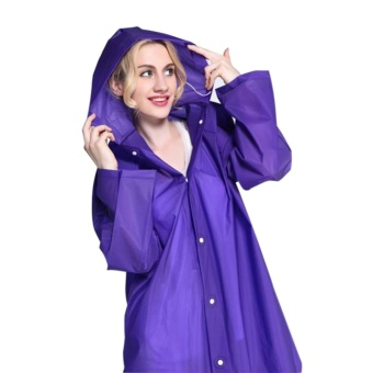 Sunshop Women Raincoat Light Weight Transparent Long Poncho Portable Rainwear Summer Outdoor - intl