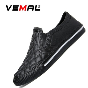 VEMAL Women Men's Casual Shoes Fashion Casual Sneakers Cheap Brand Men Loafers Flats Valentine Shoes Black - intl