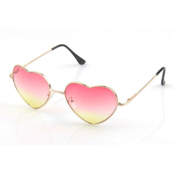 Harga Vococal Vintage Heart Shaped Sunglasses (Pink + Yellow)