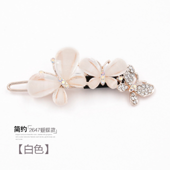 Water drill hairpin hair accessories clip Korean small hairpin (2647 white)