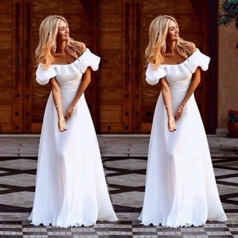 Women Maxi Summer Beach Long Dress Evening Party Dress - intl