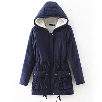 Women Warm Long Hooded Jacket Slim Winter Thick Parka Outwear Overcoat Coats - intl