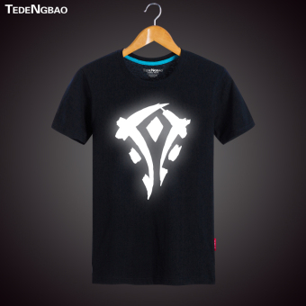World of Warcraft movie to tribal Men Warcraft T-shirt (Reflective 1) (Reflective 1)