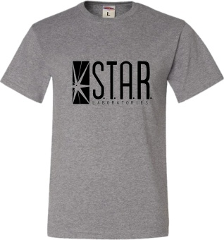 Yuandi 100% Cotton Fashion Mens T Shirt Star Labs T-Shirt (grey) -intl
