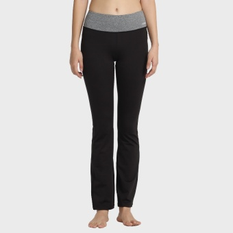 ZOANO women high-waisted slim fit pants yoga fitness pants (Black)