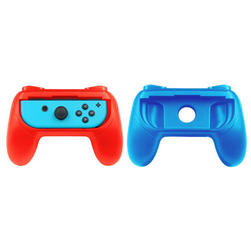 Grips for Nintendo Switch Joy-Con Wear-resistant Handle Kit for Switch Joy Cons Controller 2 Pack(Blue and Red)