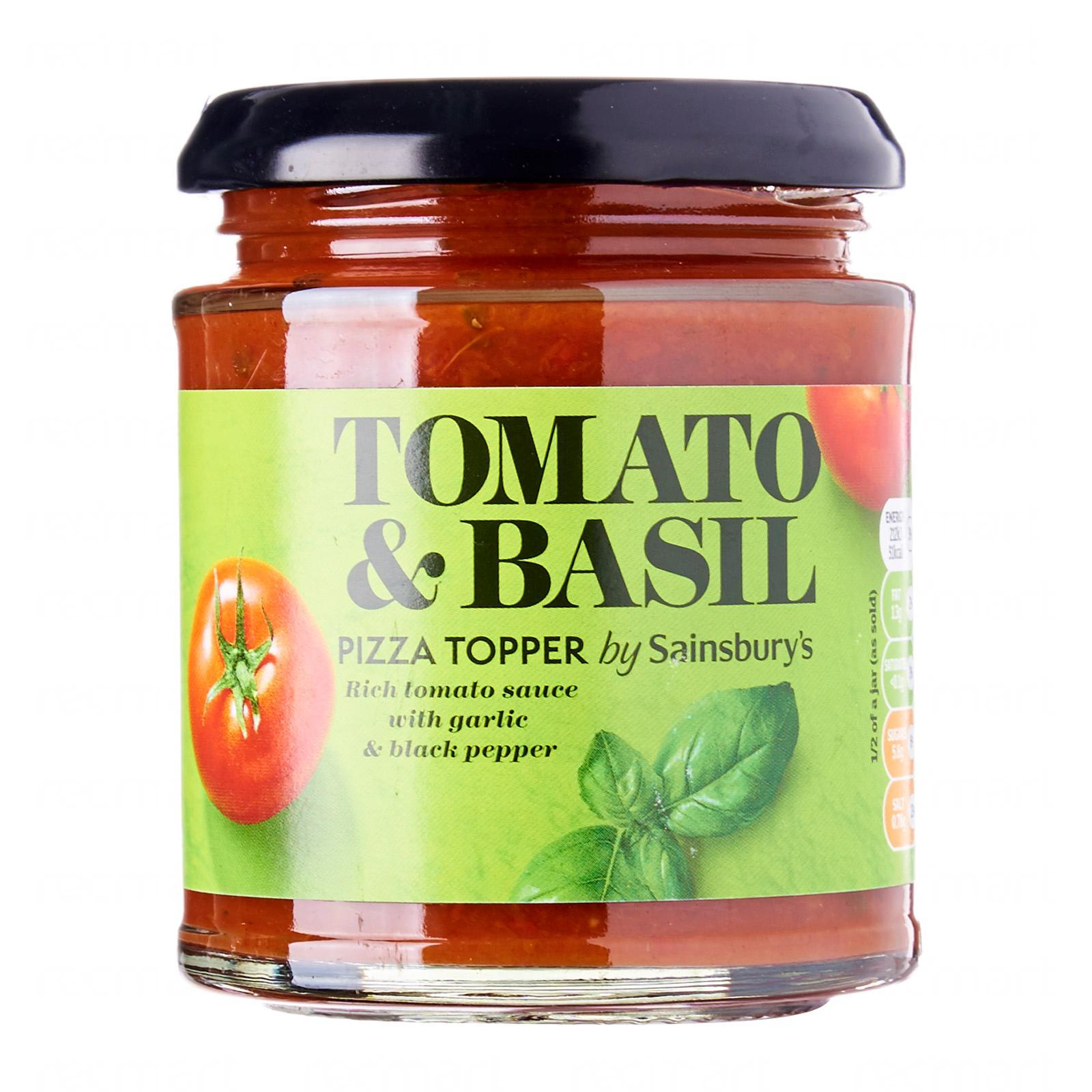 Sainsbury S Tomato And Basil Pizza Sauce Topper Lazada Singapore