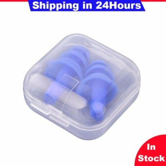 A Pair Silicone Ear Plugs Anti Noise Snore Earplugs Noise Reduction for Study - intl