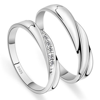 Adjustable Couple Rings 925 Silver Romentic Lover Ring Jewelry E004- intl