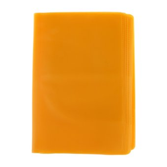 BolehDeals Frosted Passport Cover Holder Case Organizer ID Card Protector Orange(Export)