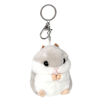 Car Key Ring Lovely Key Chain Cute Hamster Plush toys Keychain Baubles Pendant Animal Dolls Keyring Decoration Auto Interior Accessories - intl