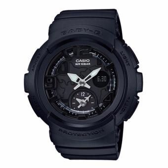 Harga Casio Baby-G Beach Traveler Matte One-tone Series Black Resin Band Watch BGA190BC-1B