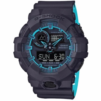 Casio G-Shock Special Color Model Layered Neon Color Black Resin Strap Watch GA700SE-1A2