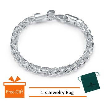 Classic Silver Plated Bracelet Lady Hand Bracelet Bangle Best Friends Jewelry Gift For Women