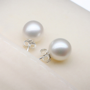 Cultured Freshwater Pearl 925 Silver Stud Fashion Women ElegantEarrings