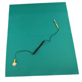 Harga DHS Green Desktop Anti Static ESD Grounding Mat 500x606mm +Cord(Export)