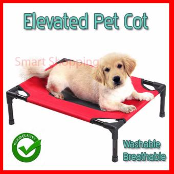 Elevated Pet Bed Cot with Fabric and Cot. Raise Your Pet from the Floor. Extra Large Red