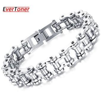 EverToner New Men's Titanium Stainless Steel Bracelet Harley Bike Chain Design - intl .