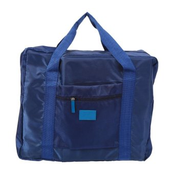 Foldable Traveling Clothes Storage Bags Big Size Luggage bag(Navy Blue) - intl