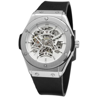 FORSINING 2681 Men's Top Brand Luxury Watches Automatic Skeleton Watches relogio masculino Watches Men Silicone band
