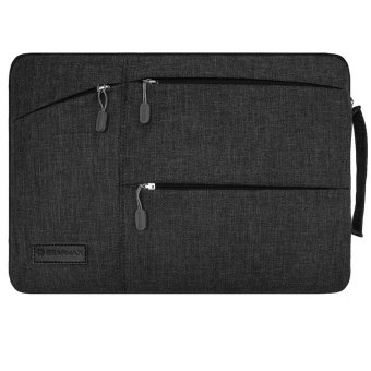 GEARMAX  13.3 Inch Laptop Sleeve Case with Handle Fabric Cover Protective Briefcase(Black)