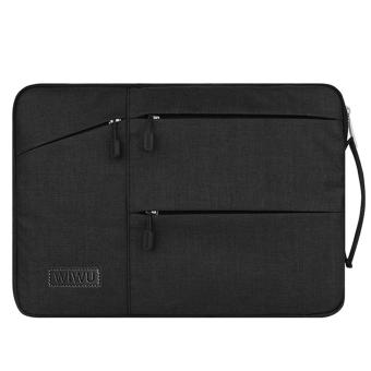 WIWU 15.6 Inch Laptop sleeve with Handle Fabric Cover Protective Briefcase(Black)