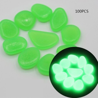 GraceKarin 100x Glow in The Dark Stone Pebble Rock For Fish Tank Aquarium Garden Road Decor