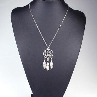 High Quality Store New Silver Fashion Bohemia Retro Jewelry Dream Catcher Pendant Chain Necklace Women - intl ...
