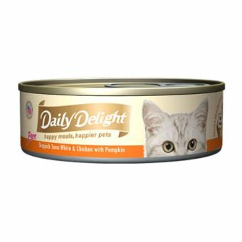 Harga Daily Delight DD42 Skipjack Tuna White & Chicken with Pumpkin x12 Cans
