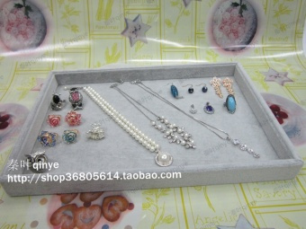 Harga High-grade ice velvet jewelry Tray