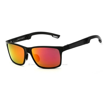 Harga VEITHDIA Aluminum Sunglasses Polarized Lens Men Sun Glasses Mirror Male Driving Fishing Eyewears Accessories 6560 (Black/Red)