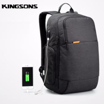 Harga Kingsons Anti Theft Design Laptop Backpack with external USB Charging Port