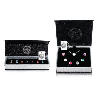 Harga 7 Days Moon Pendants Set and 7 Days Moon Earrings Set Bundle - Crystals from Swarovski®
