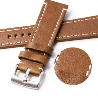 Cocotina Genuine Leather Vintage Wrist Let Watch Band Strap Yellowish Brown Width 22mm
