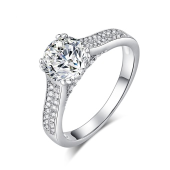 Harga 1.8ct CZ Diamond Ring Pure 925 Sterling Silver Jewelry Engagement Solitaire Ring