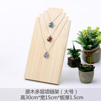 Tony scale wood jewelry necklace display stand jewelry pearl silver jewelry multilayer shooting props kitchen cabinet plate rack
