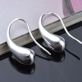 Elegant Fashion 925 Sterling Silver Women Ear Stud Earrings Silver - intl