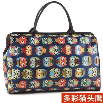 Harga Large Capacity Luggage Handbag Women's Travel Bags(Size L Owl)