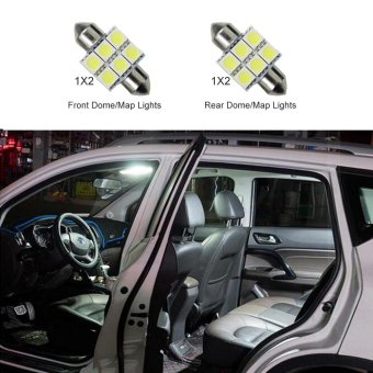Harga For Honda CRV 2007-2009 Convenience Bulbs Car Led Interior Light C10W W5W Replacement Bulbs Dome Map Lamp Light Bright White 4 PCS Per Set - intl