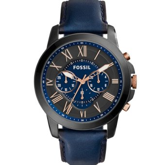 Harga Fossil FS5061 Men's Grant Chronograph with Blue Leather Band