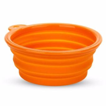 Harga Peekaboo Silicone Portable Bowl (Orange)