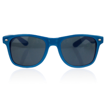 Harga ELENXS Trendy Fashion Retro Vintage Unisex Sunglasses (Blue)